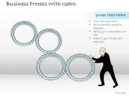 2502 Business Ppt Diagram Business Process With Gears Powerpoint Template
