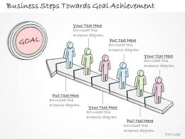 2502 Business Ppt Diagram Business Steps Towards Goal Achievement Powerpoint Template