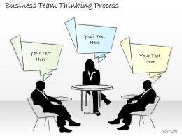2502 Business Ppt Diagram Business Team Thinking Process Powerpoint Template