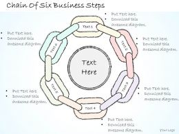 2502 Business Ppt Diagram Chain Of Six Business Steps Powerpoint Template