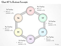 2502 Business Ppt Diagram Chart Of Six Business Concepts Powerpoint Template