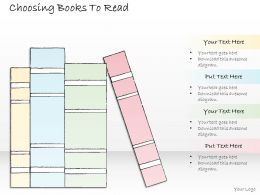 2502 Business Ppt Diagram Choosing Books To Read Powerpoint Template