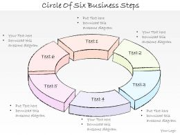 2502 Business Ppt Diagram Circle Of Six Business Steps Powerpoint Template