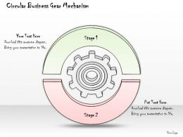 2502 Business Ppt Diagram Circular Business Gear Mechanism Powerpoint Template