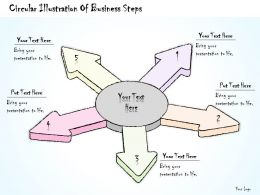 2502 Business Ppt Diagram Circular Illustration Of Business Steps Powerpoint Template