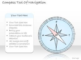 2502 Business Ppt Diagram Compass Tool Of Navigation Powerpoint Template