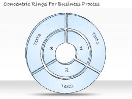 2502 Business Ppt Diagram Concentric Rings For Business Process Powerpoint Template