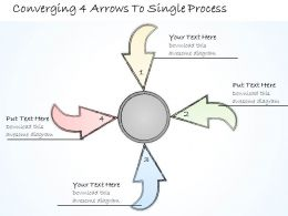 2502 Business Ppt Diagram Converging 4 Arrows To Single Process Powerpoint Template
