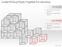 2502 Business Ppt Diagram Cubes Fitting Pieces Together For Solution Powerpoint Template