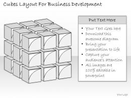 2502 Business Ppt Diagram Cubes Layout For Business Development Powerpoint Template