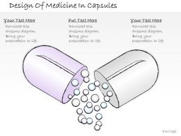 2502 Business Ppt Diagram Design Of Medicine In Capsules Powerpoint Template