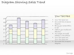 2502 Business Ppt Diagram Diagram Showing Sales Trend Powerpoint Template