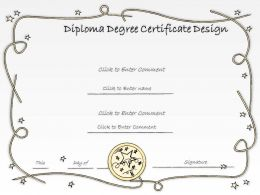 2502 Business Ppt Diagram Diploma Degree Certificate Design Powerpoint Template