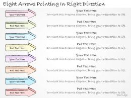 2502_business_ppt_diagram_eight_arrows_pointing_in_right_direction_powerpoint_template_Slide01