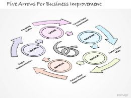 2502 Business Ppt Diagram Five Arrows For Business Improvement Powerpoint Template