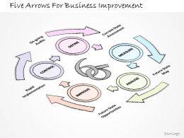 2502 Business Ppt Diagram Five Arrows For Business Improvement Powerpoint Template