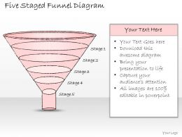 2502 Business Ppt Diagram Five Staged Funnel Diagram Powerpoint Template