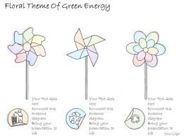 2502 Business Ppt Diagram Floral Theme Of Green Energy Powerpoint Template
