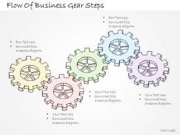 2502 Business Ppt Diagram Flow Of Business Gear Steps Powerpoint Template