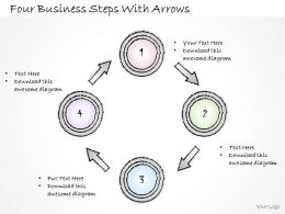 2502 Business Ppt Diagram Four Business Steps With Arrows Powerpoint Template