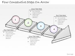 2502 Business Ppt Diagram Four Consectutive Steps On Arrow Powerpoint Template