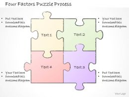 2502 Business Ppt Diagram Four Factors Puzzle Process Powerpoint Template