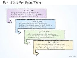 2502 Business Ppt Diagram Four Steps For Sales Task Powerpoint Template
