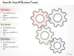 2502 Business Ppt Diagram Gears As Steps Of Business Process Powerpoint Template