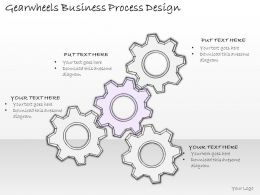 2502 Business Ppt Diagram Gearwheels Business Process Design Powerpoint Template