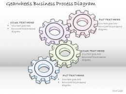 2502 Business Ppt Diagram Gearwheels Business Process Diagram Powerpoint Template