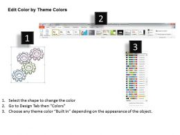 2502 Business Ppt Diagram Gearwheels Business Process Diagram Powerpoint Template