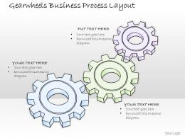 2502 Business Ppt Diagram Gearwheels Business Process Layout Powerpoint Template