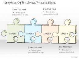 2502 Business Ppt Diagram Graphics Of Business Puzzle Steps Powerpoint Template