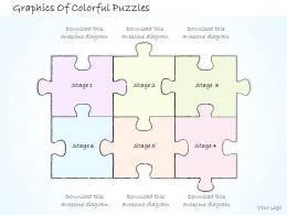 2502 Business Ppt Diagram Graphics Of Colorful Puzzles Powerpoint Template