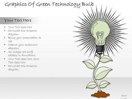2502 Business Ppt Diagram Graphics Of Green Technology Bulb Powerpoint Template
