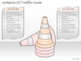 2502 Business Ppt Diagram Graphics Of Traffic Cones Powerpoint Template