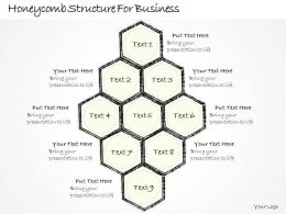 2502 Business Ppt Diagram Honeycomb Structure For Business Powerpoint Template