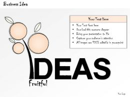 2502 Business Ppt Diagram Illustration Of Fruitful Ideas Powerpoint Template