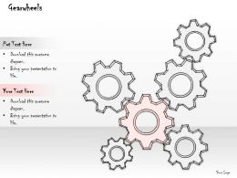 2502 Business Ppt Diagram Illustration Of Gearwheels Powerpoint Template