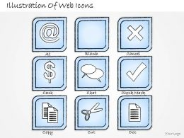 2502 Business Ppt Diagram Illustration Of Web Icons Powerpoint Template