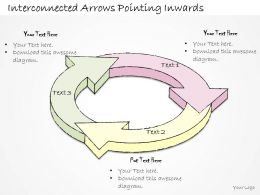 2502_business_ppt_diagram_interconnected_arrows_pointing_inwards_powerpoint_template_Slide01
