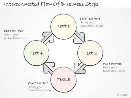 2502 Business Ppt Diagram Interconnected Flow Of Business Steps Powerpoint Template