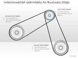 2502 Business Ppt Diagram Interconnected Gearwheels As Business Steps Powerpoint Template