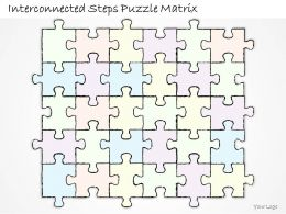 2502 Business Ppt Diagram Interconnected Steps Puzzle Matrix Powerpoint Template