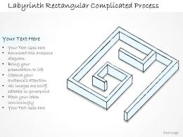 2502 Business Ppt Diagram Labyrinth Rectangular Complicated Process Powerpoint Template