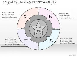 2502 Business Ppt Diagram Layout For Business PEST Analysis Powerpoint Template