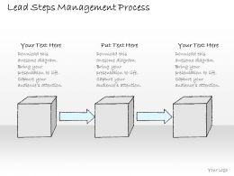 2502 Business Ppt Diagram Lead Steps Management Process Powerpoint Template