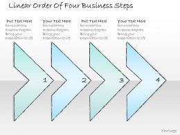 2502 Business Ppt Diagram Linear Order Of Four Business Steps Powerpoint Template