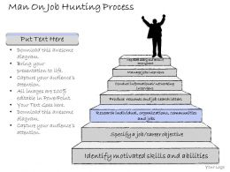 2502 Business Ppt Diagram Man On Job Hunting Process Powerpoint Template