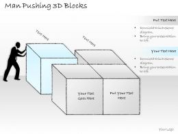 2502 Business Ppt Diagram Man Pushing Business Blocks Powerpoint Template
